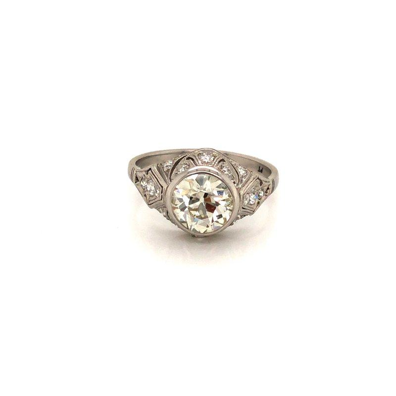 Cline Estate Platinum Antique Ring