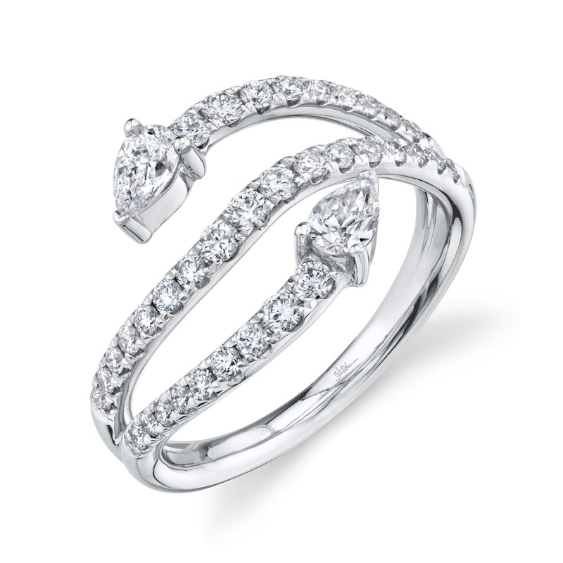 Cline Double Pear Diamond Ring