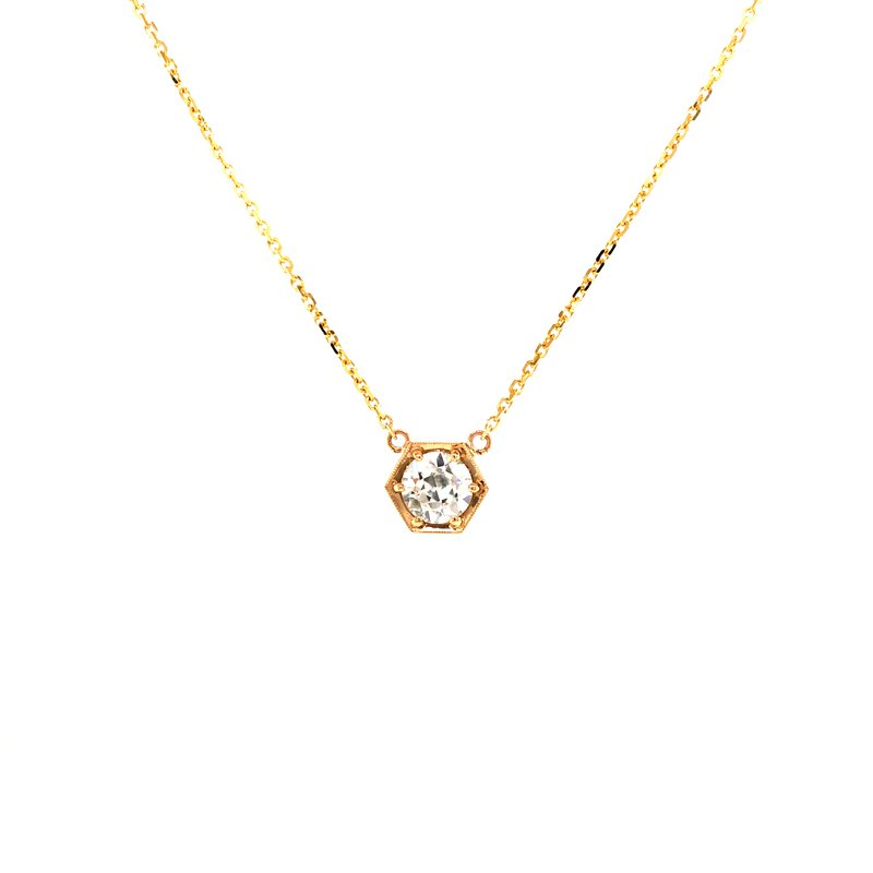 Cline Custom 14k Yellow Gold Diamond Pendant