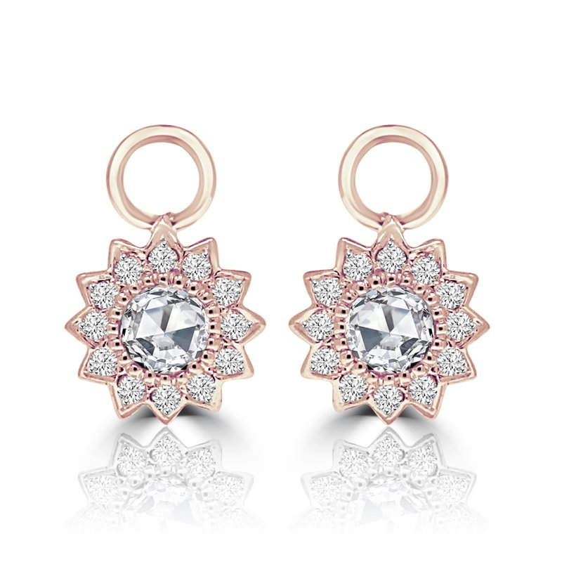 Cline 18k Rose Gold Diamond Earring Charms