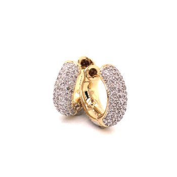 Estate Diamond Pave Earrings