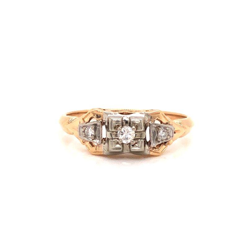 Cline Estate 3 Stone Diamond Ring