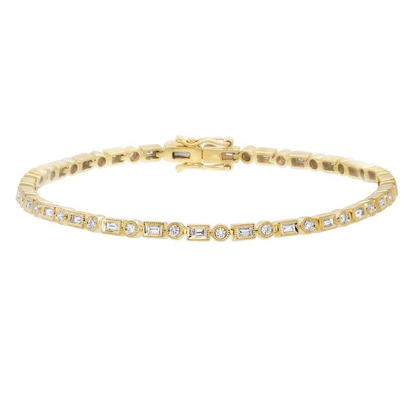 Cline 14k Yellow Gold Diamond Bracelet