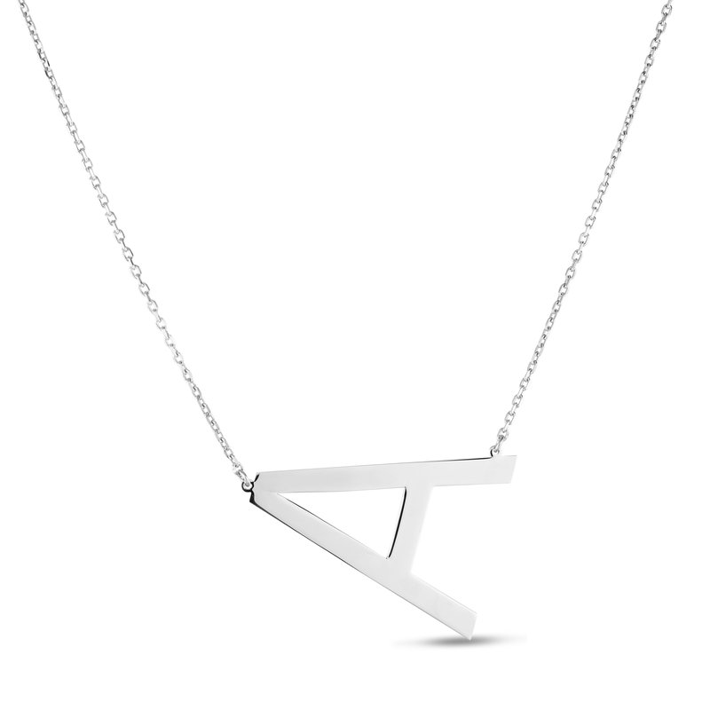 "Cline Sterling Silver ""A"" Initial Necklace"