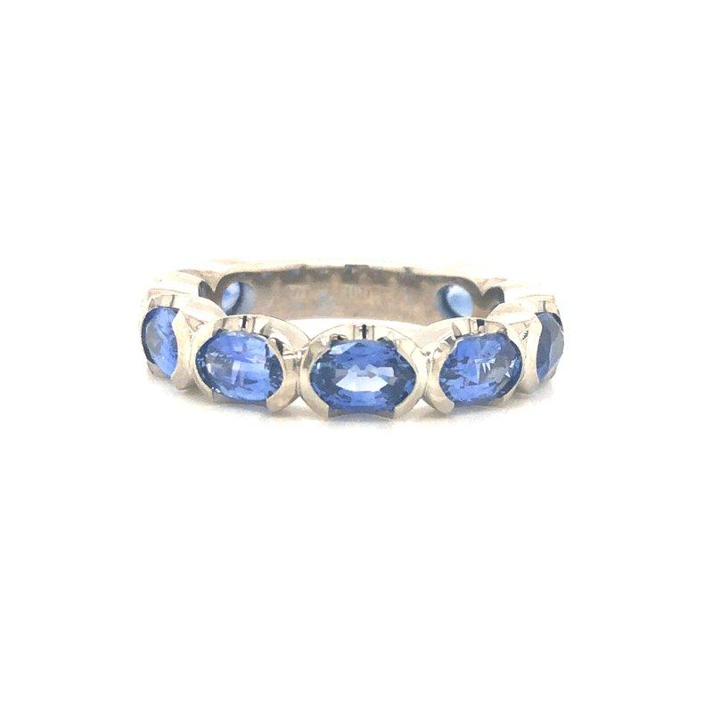 Cline Custom Oval Sapphire Ring