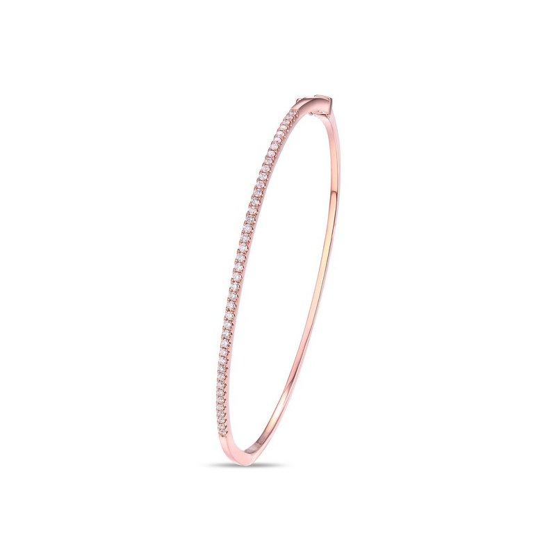 Cline 14k Rose Gold Diamond Bracelet