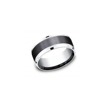 14k White Gold and Tantalum Band