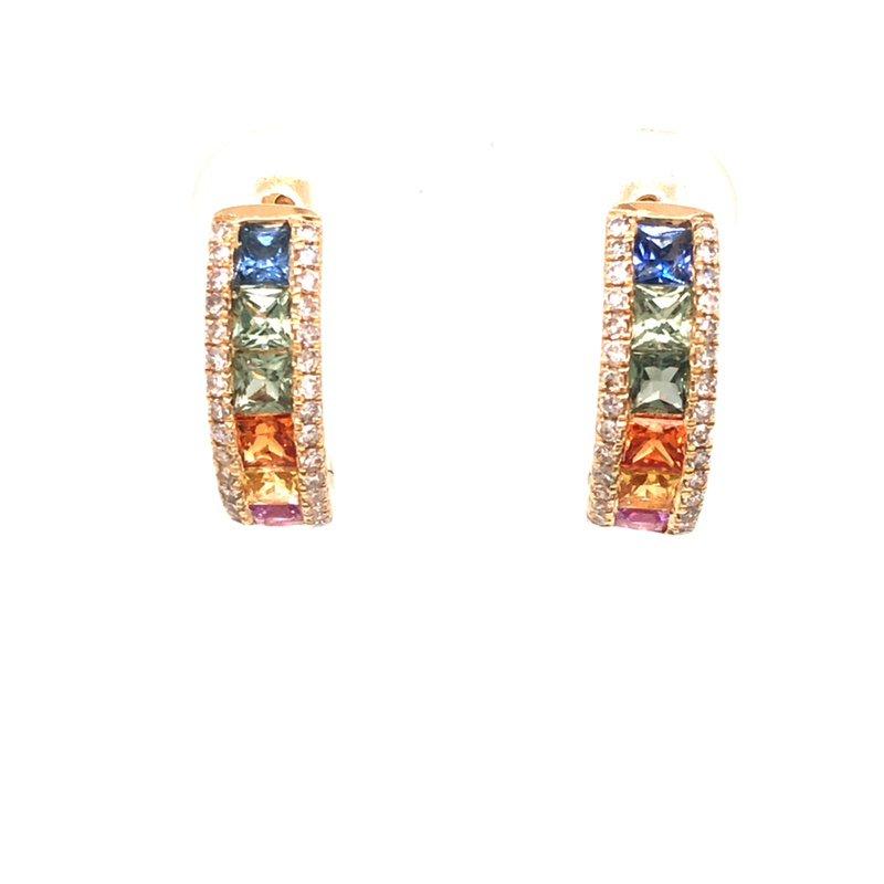 Cline Rainbow Hoop Earrings