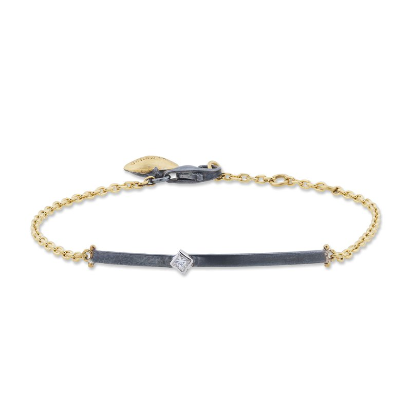 Cline Mixed Metal Diamond Bracelet