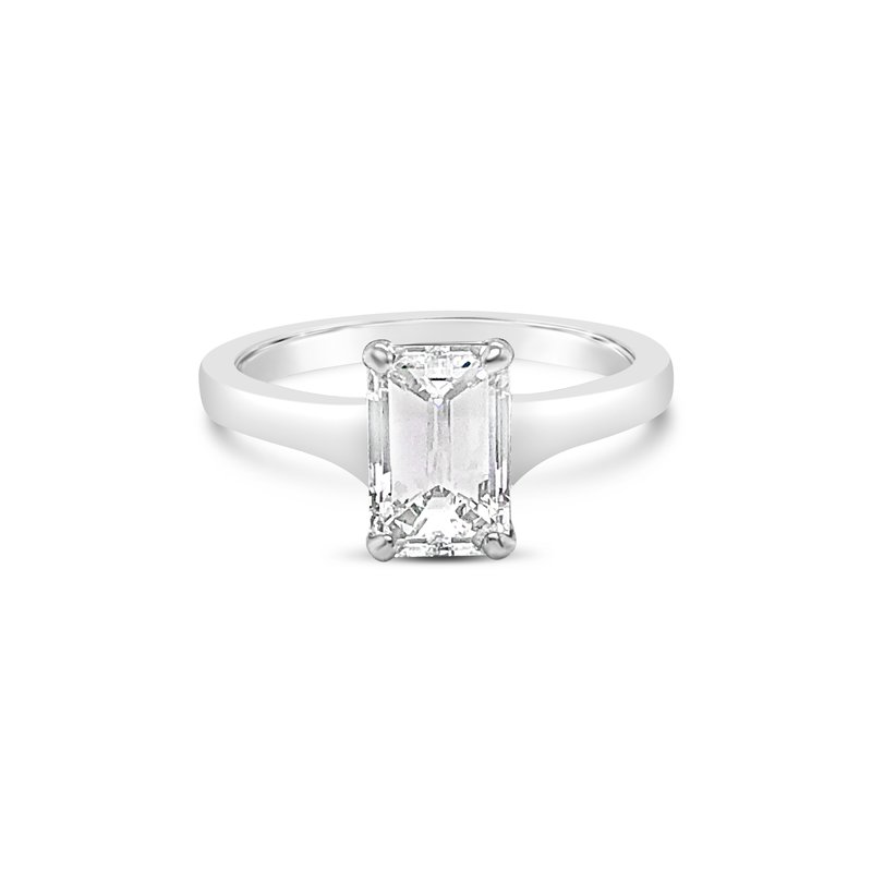 Cline Custom Emerald Cut Diamond Solitaire