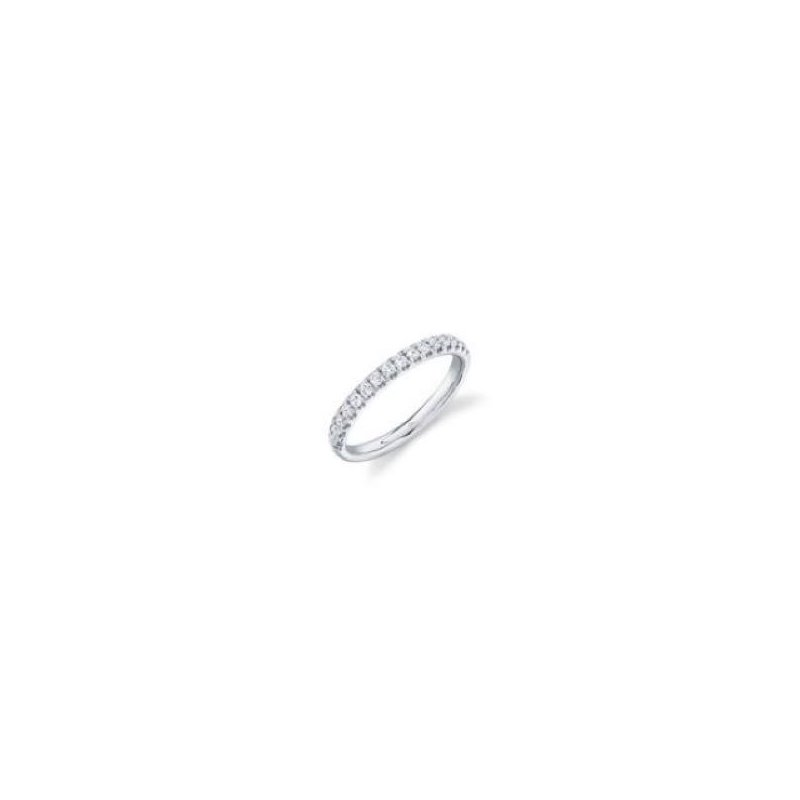 Cline 14k White Gold Diamond Band