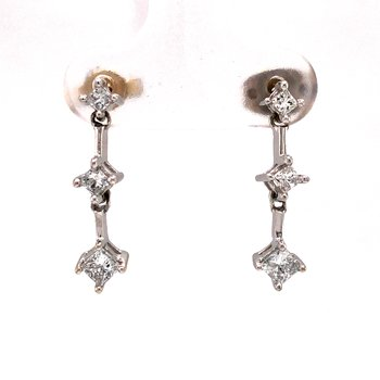 Estate Diamond Dangle Earrings