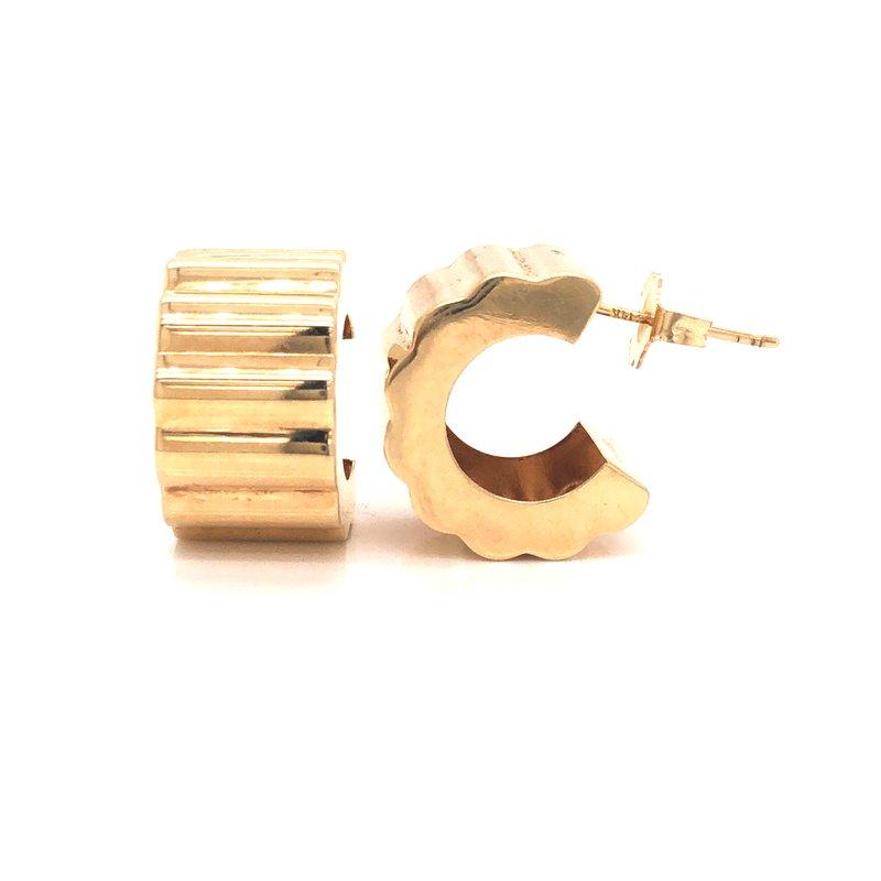 Cline Estate Scalloped Hoop Style Earrings