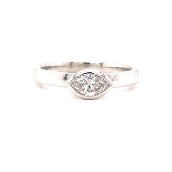 Bezel Set Marquise Diamond Ring