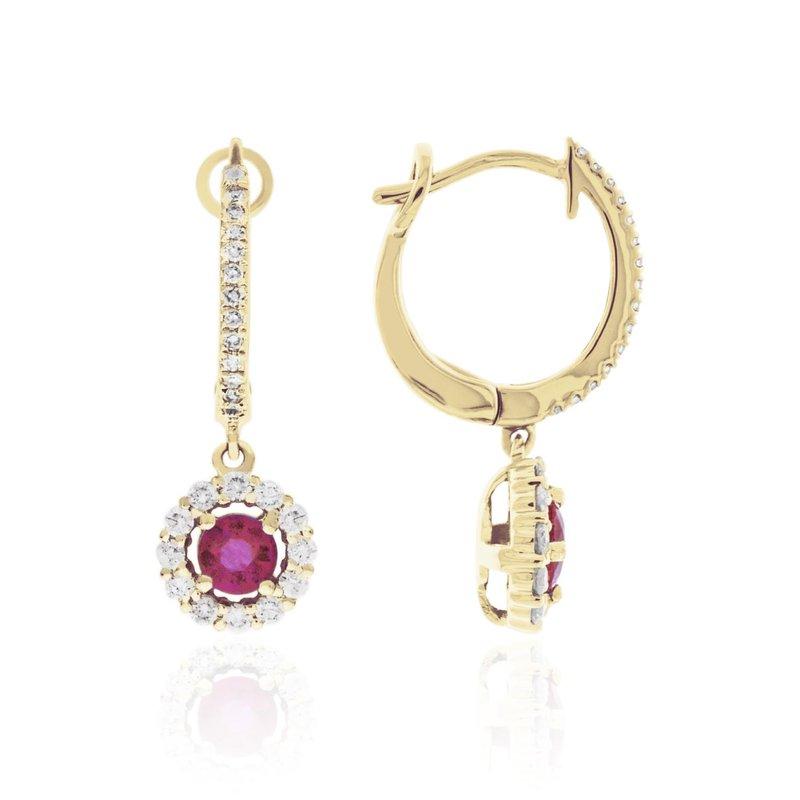 Cline Ruby Diamond Earrings