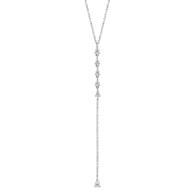 Cline Pear Diamond Lariat Necklace