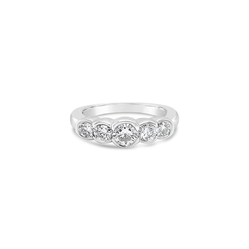 Cline Bezel Set 5-Stone ring