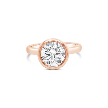 Bezel Set Rose Gold Solitaire