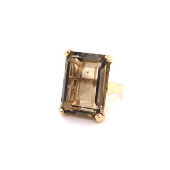 Estate Smokey Quartz Ring