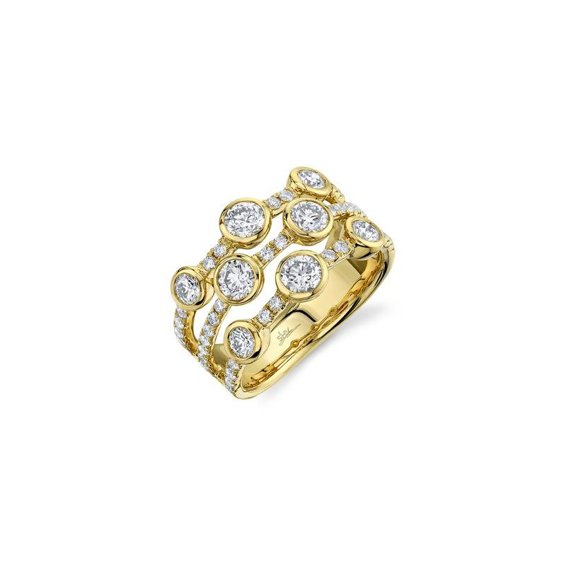 Cline 14k Yellow Gold Diamond Ring