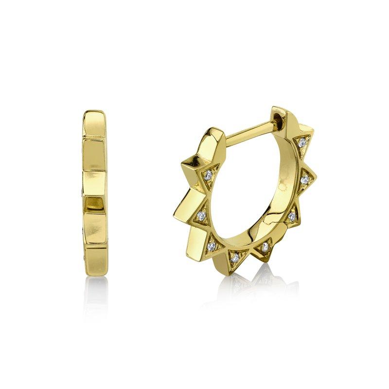Cline Diamond Spike Huggie Earrings