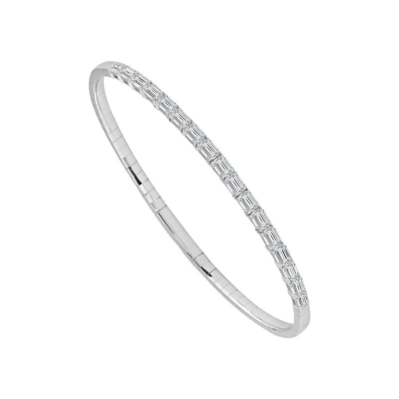 Cline 14k White Gold Diamond Flexible Bracelet