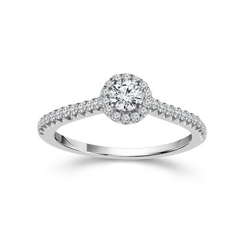 Round Cut Halo Ring