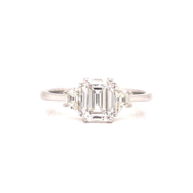 Cline Custom Emerald Cut 3-Stone Ring