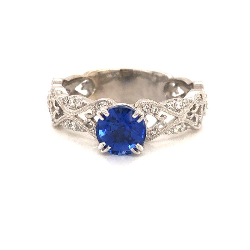 Cline Estate Sapphire and Diamond Ring