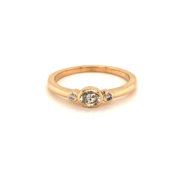 Cline Custom 14k Yellow Gold Diamond Ring