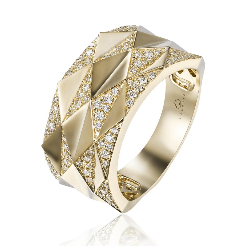 Cline 14k Yellow Gold Diamond Fashion Ring