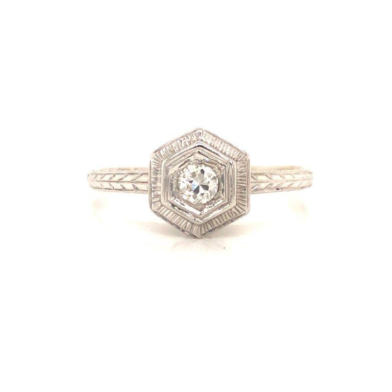 Cline Estate Diamond Solitaire Ring