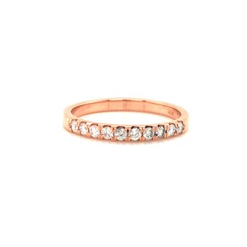 Cline Custom 14k Rose Gold Diamond Band