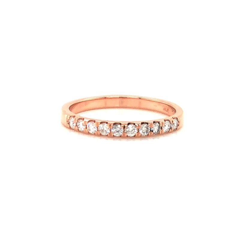 Cline Custom 14k Rose Gold Diamond Band