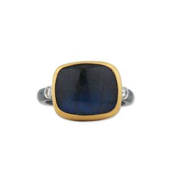 Rectangular Labradorite Ring