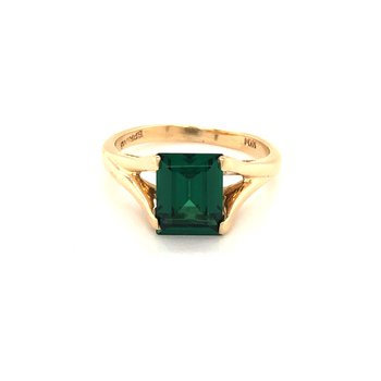 Estate Synthetic Emerald Ring