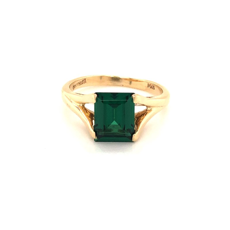 Cline Estate Synthetic Emerald Ring