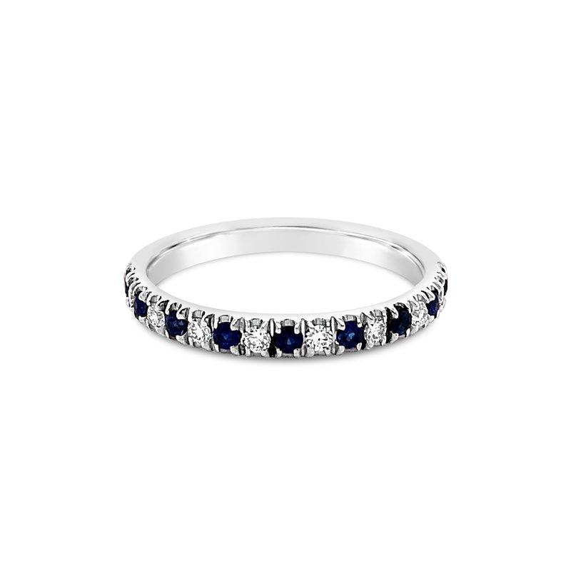 Cline Custom Diamond and Sapphire Band