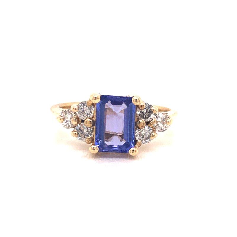Cline Estate Tanzanite and Diamond Ring