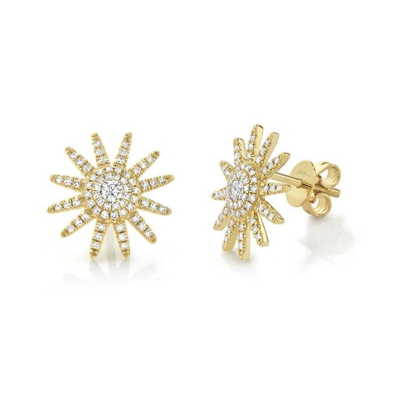 Cline Diamond Sun Earrings