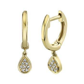 Huggie Diamond Teardrop Earring