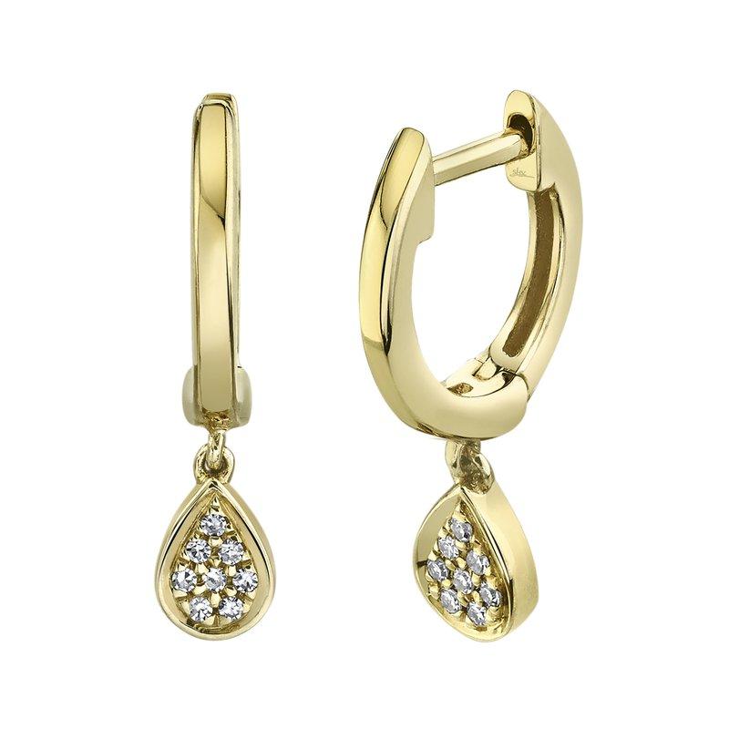 Cline Huggie Diamond Teardrop Earring