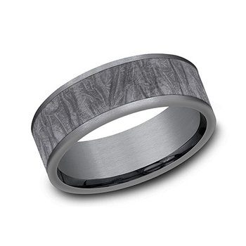 Tantalum Band with Fabric Flow Pattern
