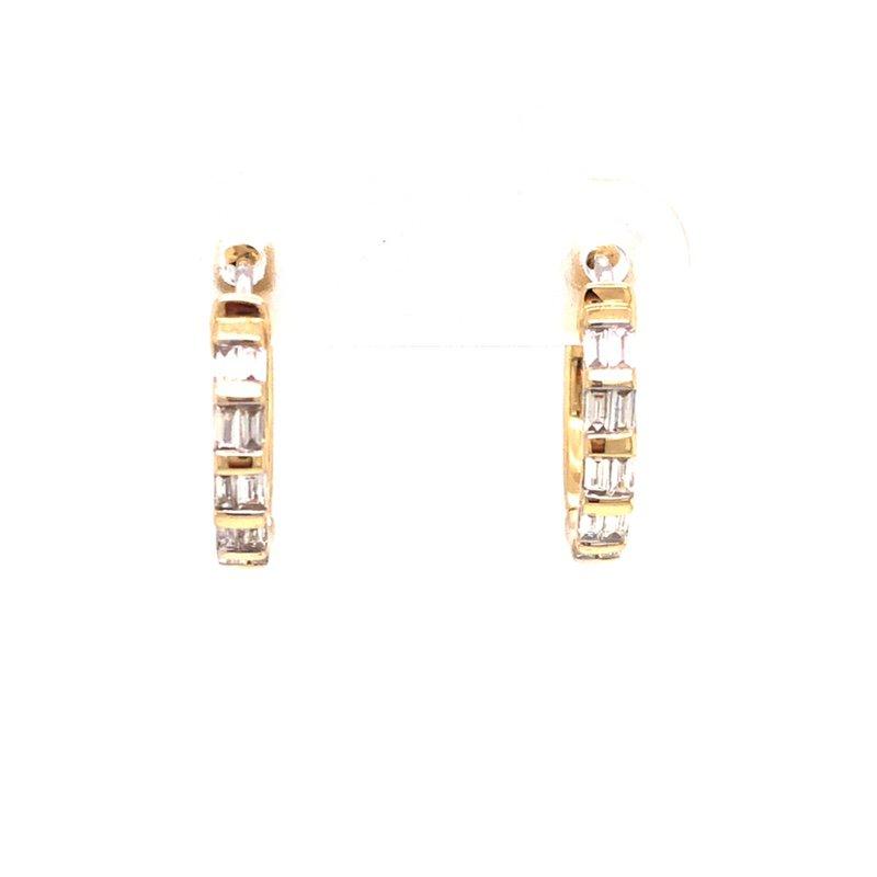 Cline Baguette Diamond Hoop Earrings