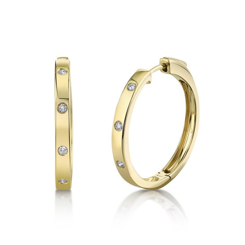 Cline Diamond Hoop Earrings