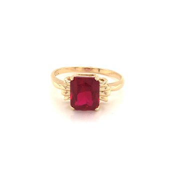 Estate Synthetic Ruby Ring