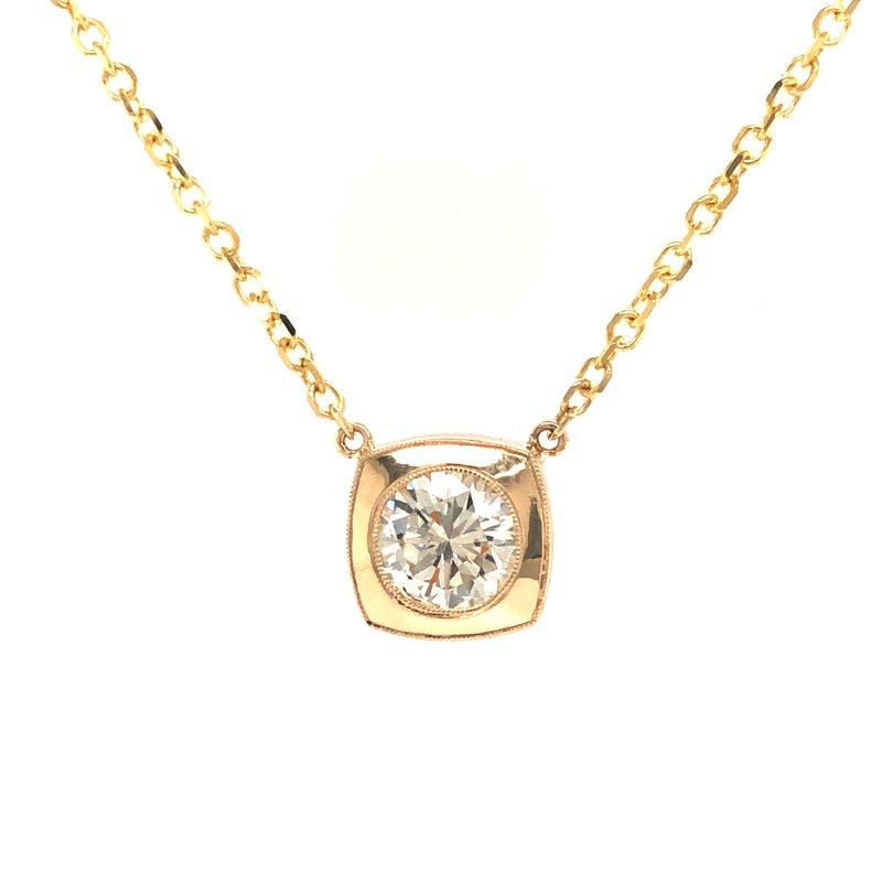 Cline Custom Bezel Set Diamond Pendant