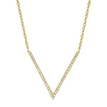 Diamond V Necklace