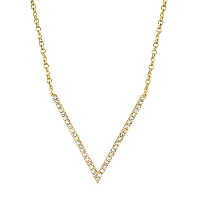 Cline Diamond V Necklace