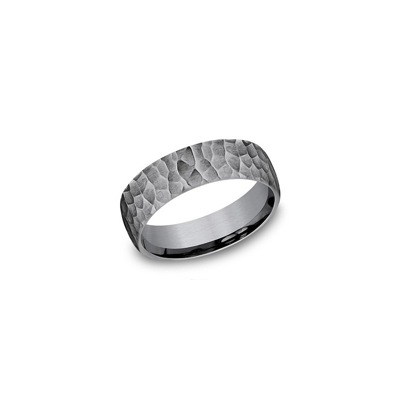 Cline Gray Tantalum Band with Hammered Finish